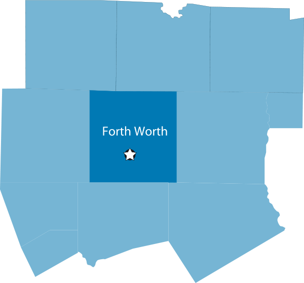 Fort worth map